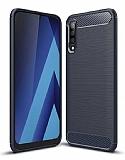 Eiroo Carbon Shield Samsung Galaxy A70 Ultra Koruma Lacivert Kılıf