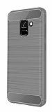 Eiroo Carbon Shield Samsung Galaxy A8 2018 Ultra Koruma Gri Kılıf