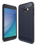 Eiroo Carbon Shield Samsung Galaxy C5 Pro Ultra Koruma Lacivert Kılıf
