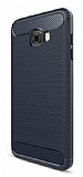 Eiroo Carbon Shield Samsung Galaxy C7 Pro Ultra Koruma Lacivert Kılıf