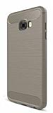 Eiroo Carbon Shield Samsung Galaxy C7 Pro Ultra Koruma Gri Kılıf