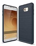 Eiroo Carbon Shield Samsung Galaxy C9 Pro Ultra Koruma Lacivert Kılıf