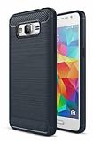 Eiroo Carbon Shield Samsung Galaxy Grand Prime / Prime Plus Ultra Koruma Lacivert Kılıf