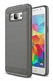 Eiroo Carbon Shield Samsung Galaxy Grand Prime / Prime Plus Ultra Koruma Dark Silver Kılıf