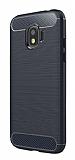 Eiroo Carbon Shield Samsung Galaxy J2 Pro 2018 Ultra Koruma Lacivert Kılıf