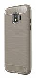 Eiroo Carbon Shield Samsung Grand Prime Pro J250F Ultra Koruma Dark Silver Kılıf