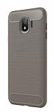 Eiroo Carbon Shield Samsung Galaxy J4 Ultra Koruma Dark Silver Kılıf