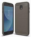 Eiroo Carbon Shield Samsung Galaxy J5 Pro 2017 Ultra Koruma Dark Silver Kılıf