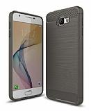 Eiroo Carbon Shield Samsung Galaxy J5 Prime Ultra Koruma Dark Silver Kılıf