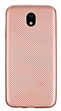 Eiroo Carbon Thin Samsung Galaxy J5 Pro 2017 Ultra İnce Rose Gold Silikon Kılıf