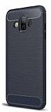 Eiroo Carbon Shield Samsung Galaxy J7 Duo Ultra Koruma Lacivert Kılıf