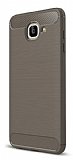 Eiroo Carbon Shield Samsung Galaxy J7 Max Ultra Koruma Dark Silver Kılıf