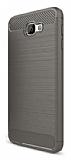 Eiroo Carbon Shield Samsung Galaxy J7 Prime Ultra Koruma Dark Silver Kılıf