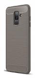 Eiroo Carbon Shield Samsung Galaxy J8 Ultra Koruma Gri Kılıf