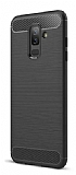 Eiroo Carbon Shield Samsung Galaxy J8 Ultra Koruma Siyah Kılıf
