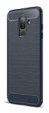 Eiroo Carbon Shield Samsung Galaxy J8 Ultra Koruma Lacivert Kılıf