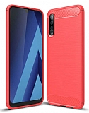 Eiroo Carbon Shield Samsung Galaxy M30 Ultra Koruma Kırmızı Kılıf