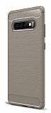 Eiroo Carbon Shield Samsung Galaxy S10 Plus Ultra Koruma Gri Kılıf
