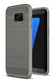 Eiroo Carbon Shield Samsung Galaxy S7 edge Ultra Koruma Dark Silver Kılıf