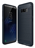 Eiroo Carbon Shield Samsung Galaxy S8 Plus Ultra Koruma Lacivert Kılıf