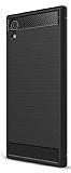 Eiroo Carbon Shield Sony Xperia XA1 Plus Ultra Koruma Siyah Kılıf