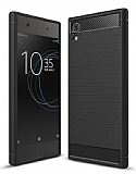 Eiroo Carbon Shield Sony Xperia XA1 Süper Koruma Siyah Kılıf