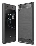 Eiroo Carbon Shield Sony Xperia XA1 Süper Koruma Dark Silver Kılıf