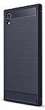 Eiroo Carbon Shield Sony Xperia XA1 Ultra Süper Koruma Lacivert Kılıf