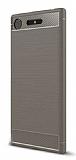 Eiroo Carbon Shield Sony Xperia XZ1 Süper Koruma Gri Kılıf
