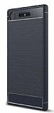 Eiroo Carbon Shield Sony Xperia XZ1 Süper Koruma Lacivert Kılıf