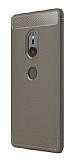 Eiroo Carbon Shield Sony Xperia XZ2 Ultra Koruma Dark Silver Kılıf