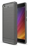 Eiroo Carbon Shield Xiaomi Mi 5s Ultra Koruma Dark Silver Kılıf