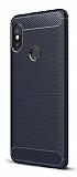 Eiroo Carbon Shield Xiaomi Mi A2 Ultra Koruma Lacivert Kılıf