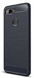 Eiroo Carbon Shield Xiaomi Mi 8 Lite Ultra Koruma Lacivert Kılıf