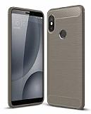 Eiroo Carbon Shield Xiaomi Mi 8 Ultra Koruma Dark Silver Kılıf