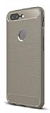 Eiroo Carbon Shield Xiaomi OnePlus 5T Ultra Koruma Gri Kılıf