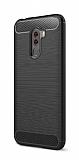 Eiroo Carbon Shield Xiaomi Pocophone F1 Ultra Koruma Siyah Kılıf