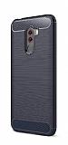 Eiroo Carbon Shield Xiaomi Pocophone F1 Ultra Koruma Lacivert Kılıf