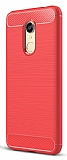 Eiroo Carbon Shield Xiaomi Redmi Note 5 / Redmi 5 Plus  Ultra Koruma Kırmızı Kılıf