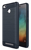 Eiroo Carbon Shield Xiaomi Redmi Note 3 Pro Ultra Koruma Lacivert Kılıf