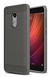 Eiroo Carbon Shield Xiaomi Redmi Note 4 / Redmi Note 4X Ultra Koruma Dark Silver Kılıf