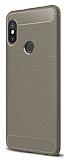 Eiroo Carbon Shield Xiaomi Redmi Note 5 Pro Ultra Koruma Gri Kılıf