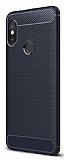 Eiroo Carbon Shield Xiaomi Redmi Note 5 Pro Ultra Koruma Lacivert Kılıf