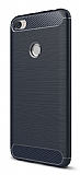Eiroo Carbon Shield Xiaomi Redmi Note 5A / Note 5A Prime Ultra Koruma Lacivert Kılıf