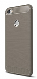 Eiroo Carbon Shield Xiaomi Redmi Note 5A / Note 5A Prime Ultra Koruma Gri Kılıf