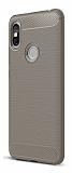 Eiroo Carbon Shield Xiaomi Redmi S2 Ultra Koruma Dark Silver Kılıf