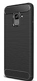Eiroo Carbon Shield Samsung Galaxy A8 Plus 2018 Ultra Koruma Siyah Kılıf