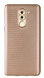 Eiroo Carbon Thin Huawei GR5 2017 Ultra İnce Gold Silikon Kılıf
