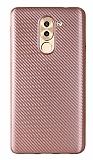 Eiroo Carbon Thin Huawei GR5 2017 Ultra İnce Rose Gold Silikon Kılıf