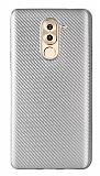 Eiroo Carbon Thin Huawei GR5 2017 Ultra İnce Silver Silikon Kılıf